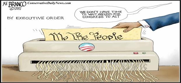 executive orders, obama cartoons